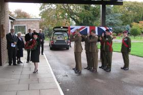 The Pall Bearer Party prepares to enter St Peter's Chapel, 3 Nov 2011