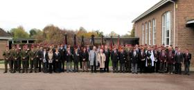 Group photograph at the funeral of Major Timothy, Exeter, 3 November 2011