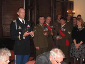 Lt Col Talbot, US Army, talks about Maj Timothy and his links to US Airborne Forces, 3 Nov 2011