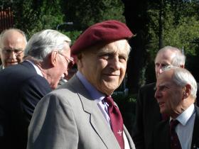 Harold Bruce at the 60th anniverary of Op Market Garden in Holland, 2004