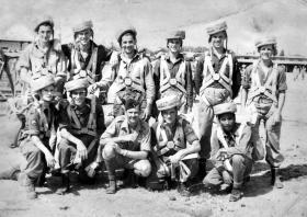 Members 3 Airborne Squadron Royal Engineers at Rawalpindi Depot, India, c1945.