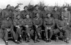 Intelligence Section, Headquarter Company, 3rd Parachute Battalion. Spalding, 1944.