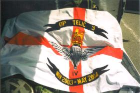 The Operation Telic 3 Tour Flag for 4 PARA