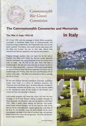 Commonwealth Cemeteries and Memorials in Italy