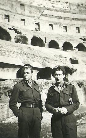 Two members of 4th Para Bn, Rome Italy, Feb 1945.