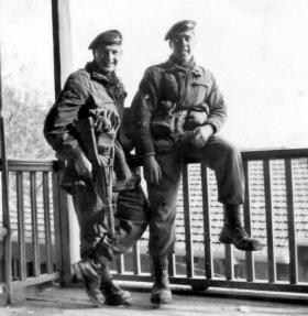 Ivor Arthur and John Rhind, 2 PARA, Platres, Cyprus, c1957.