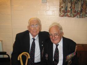 Jack Hobbs and Eric Booth at a reunion, Donington, 2009.