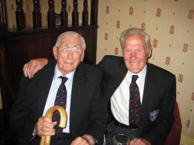 Jack Hobbs and Norman Swift at a 1 Para Sqn RE reunion, Donington, 2009.