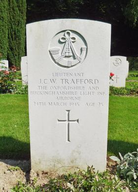 The grave of Lt Jack Trafford, Reichswald Forest War Cemetery.