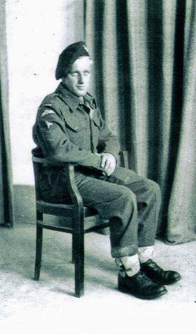 Portrait of Pte John H Park, c1943.