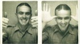Sgt James Evans, 9th Para Bn, Palestine, date unknown.