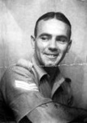 Sgt 'Titch' Evans, Palestine, date unknown.