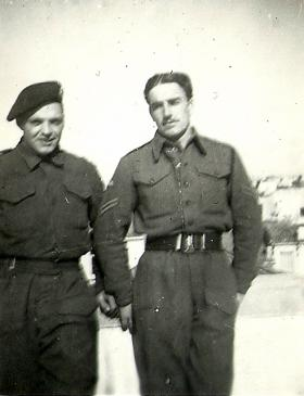 'Shorty' and Paul Howell of 4th Para Bn, Greece, Jan 1945.