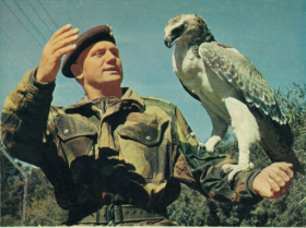 Commandant Jan Fourie with bird of prey