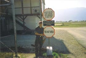 Jason Connolly at Camp Archer HLS in Sarajevo, Bosnia