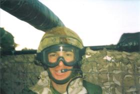 Jason Connolly on top cover duty in Iraq, c.2004