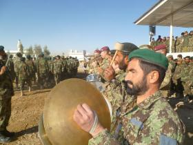 The Band of The Parachute Regiment with the Afghan Army Band, Afghanistan, 2011