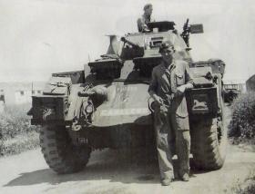 Sgt Jock Watson with Careless, c1946