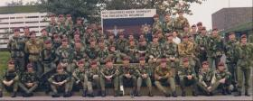 No 1 Guards Ind Para Coy prior to disbandment at Pirbright, October 1975.
