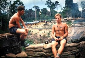 Joe Forshaw and Vic Chapman, 2 PARA, Borneo, c1965.