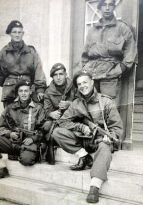Members of the 6th (Royal Welch) Parachute Battalion, possibly Athens, c1944.