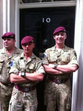 2 Para Sgts' Mess visit to No 10 Downing Street, 2011.