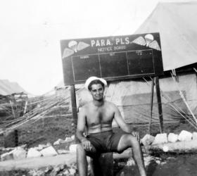 Pte Tony Drake, 716 (AB) Light Comp Coy RASC, Palestine, 1946.