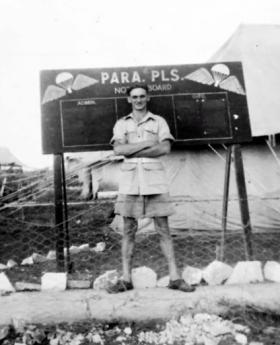Driver John Pitt, 716 (AB) Light Comp Coy RASC, Palestine, c1946.
