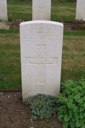 Headstone of L/Bdr Edward Johnson Reichswald Forest 2010