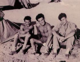 2 PARA soldiers on camp in Amman, Jordan 1958