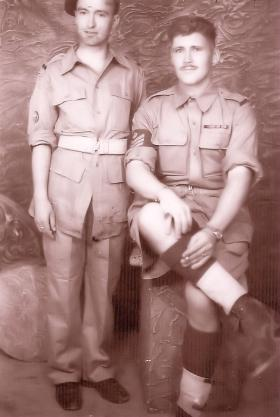 Bill Joyce (right) with colleague in Palestine