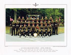Passing Out photograph of 20 Platoon, Junior Parachute Company, October 1990.