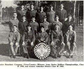 Junior Parachute Company cross-country winners 1965