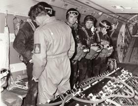JSFTT members on board an Argosy, 1966