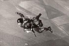 A member of the JSFTT in freefall over England, 1966