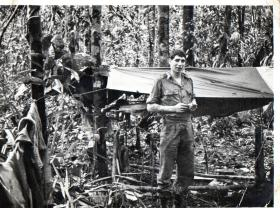 Guardsman Anthony K Wybrow, No 1 (Guards) Para Coy, Borneo, 1964.