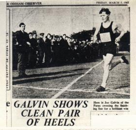 Joe Galvin winning a cross country race March 1965
