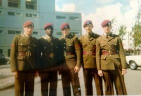 Members of Junior Parachute Company, Browning Barracks, 1971.