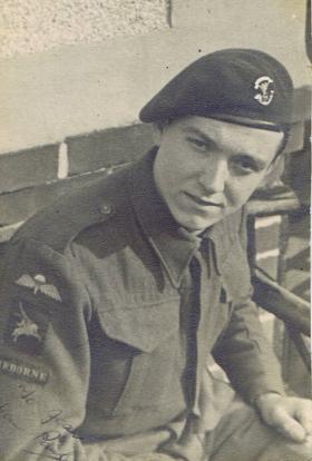 Pte Aller shortly after his Parachute course, Dec 1942