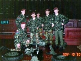 Members of G (Mercer's Troop) Parachute Battery RHA. November 1990.