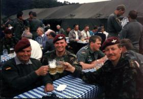 L/Cpl Prosper Keating and  Lt Robert McAlpine-Downie, OC, Int Section, 10 PARA,  Germany, Summer 1989.