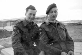 Sgt Kenneth Clarke and unknown.