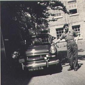 Ken Sellars by Brigadier Gordon's Staff Car