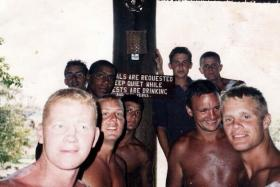 Danny Brooks and mates in Kenya, date unknown.