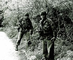 Members of Close Observation Platoon (COP), 1 PARA, Northern Ireland, 1982.