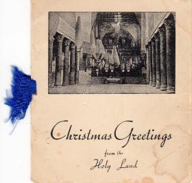 A Christmas card sent from the Holy Land by Pte Kimber, circa 1946