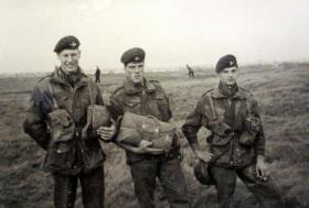 Three members of The 1st (Guards) Parachute Company, Newcastle Moor, 1957.