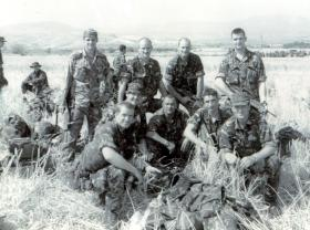 Members of 23 Parachute Field Ambulance (23 PFA) prior to insertion into Kosovo, 1999.