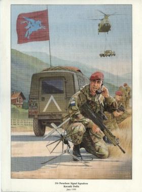 Print of 216 Para Sig Sqn in Kosovo