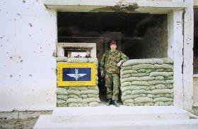 L/Cpl Brudenell of C Coy 2 PARA, Op Fingal, Kabul Afghanistan, 2002.